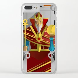 tarot card the emperor Clear iPhone Case