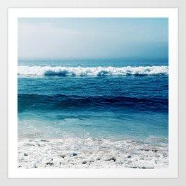 aqua foamy sea Art Print