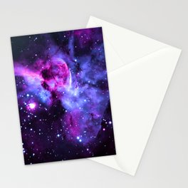 Purple Periwinkle Violet Carina Nebula Stationery Cards