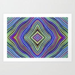 Wild Wavy Diamonds 47 Art Print