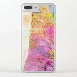 Altered Tropical Beach Clear iPhone Case