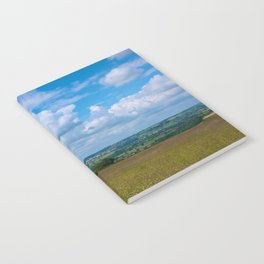 Looking across the Cotswolds, England Notebook