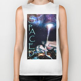 Spaced 'TexT' Biker Tank