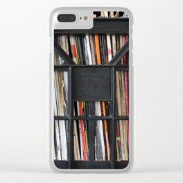 Vinyl DJ Crate Clear iPhone Case