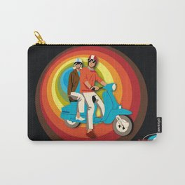 'Scooter Pair' Subway Soul by Dawn Carrington Carry-All Pouch
