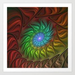 Colorful Spiral Fractal Art Print