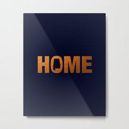 Alabama home state faux copper foil print Metal Print