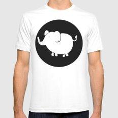White Elephant  Mens Fitted Tee MEDIUM White