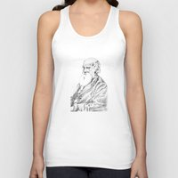 darwin Tank Tops featuring Charles Darwin by Noelle Fontaine