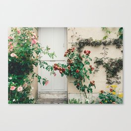 Roses in Giverny, France Monet's Garden Canvas Print