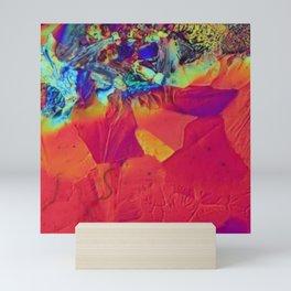 Abstract Art - Rainbow Meets Sunset - Orange / Red / Purple Mini Art Print