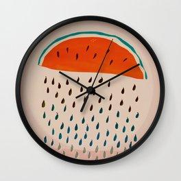 Sun Watermelon Rain Mutants Sequence 2 Wall Clock