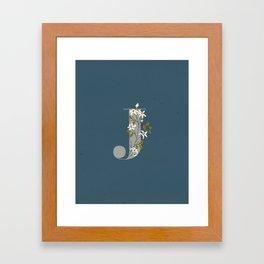 J for Jasmine Framed Art Print