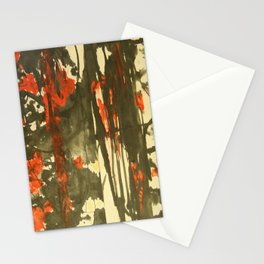 Rojo y negro Stationery Cards