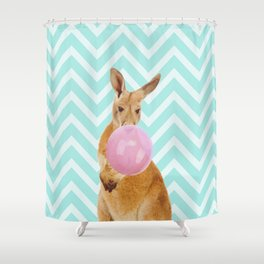 Bubble Gum - Kangaroo Shower Curtain