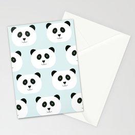 Panda Love- Mint Blue Stationery Cards