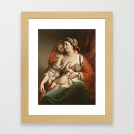 Friedrich von Amerling Charity (The Cook Katharina) Framed Art Print
