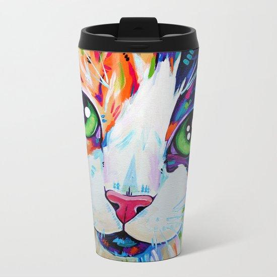 Cats in Colour 3 Metal Travel Mug