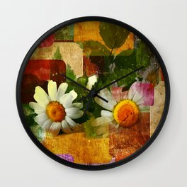Kamillenblüten Wall Clock