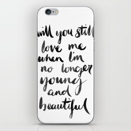 Young and Beautiful iPhone Skin