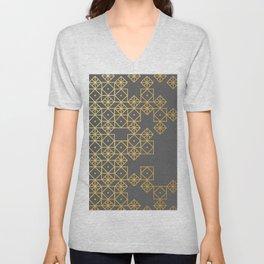 Geometric Gold Unisex V-Neck