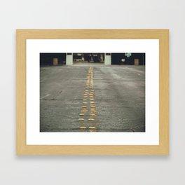 yellow light reflectors Framed Art Print