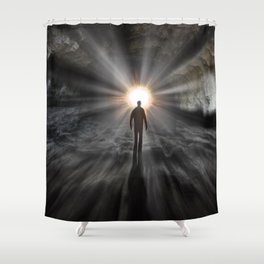 Back To Source Shower Curtain