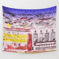 bread Wall Tapestries featuring Daily Bread by Andooga Design