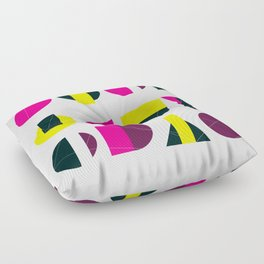 rasberry and lemon with litlle darkness Floor Pillow