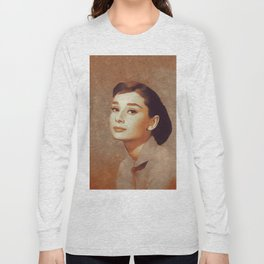 Audrey Hepburn, Hollywood Legend Long Sleeve T-shirt