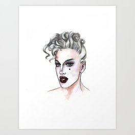 max the drag queen - max collective Art Print