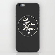 Go Vegan Grey iPhone & iPod Skin