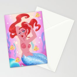 Kissy Face Mermaid Stationery Cards