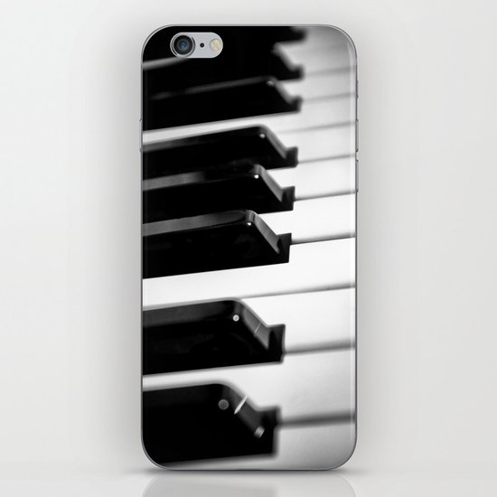 Black & White Piano Keys iPhone & iPod Skin