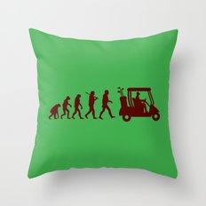 Evolution - golf Throw Pillow