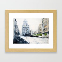 Madrid, Gran Vía. Framed Art Print