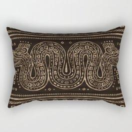 Aztec Double-headed serpent Rectangular Pillow