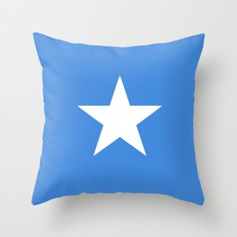 Somalian national flag - Authentic color and scale (high quality file) Throw Pillow