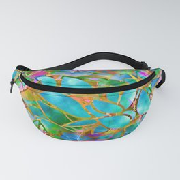 Floral Abstract Stained Glass G265 Fanny Pack
