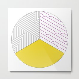 Geometric Circle #3 Metal Print