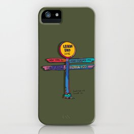 land's end sign iPhone Case
