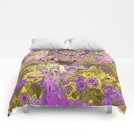 Garden Pansy Comforters
