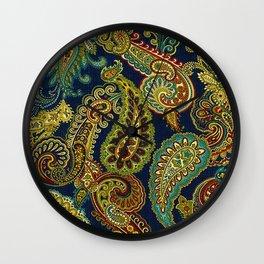 Floral Paisley Pattern 05 Wall Clock
