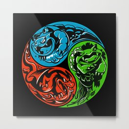 POKéMON STARTER: THREE ELEMENTS Metal Print