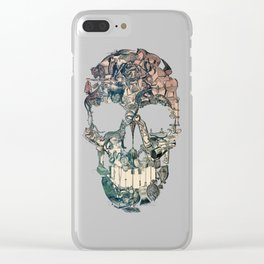 Skull Vintage Clear iPhone Case