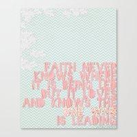 faith Canvas Prints featuring Faith by The ArdentSparrow