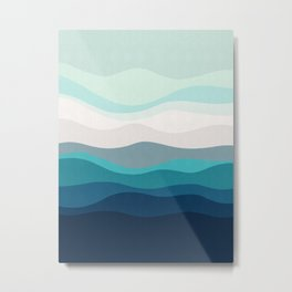 Abstract and geometric landscape 12 Metal Print