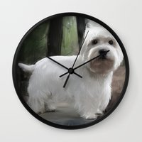 friday Wall Clocks featuring Friday by debspoons