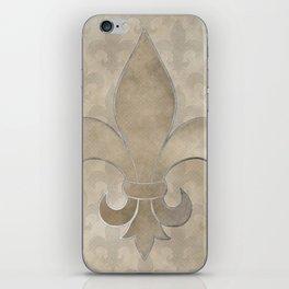 Fleur de lis pattern iPhone Skin
