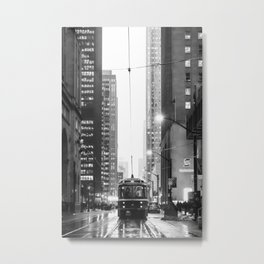 Memories of a streetcar street photography Toronto Downtown Metal Print